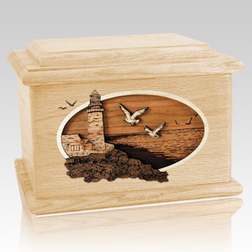 Sea Coast Maple Memory Chest Cremation Urn