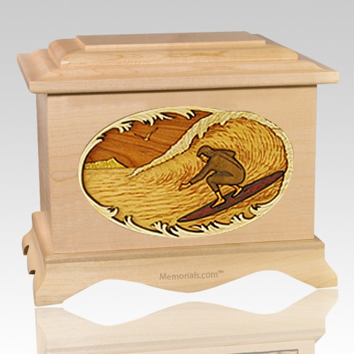Surfer Maple Cremation Urn