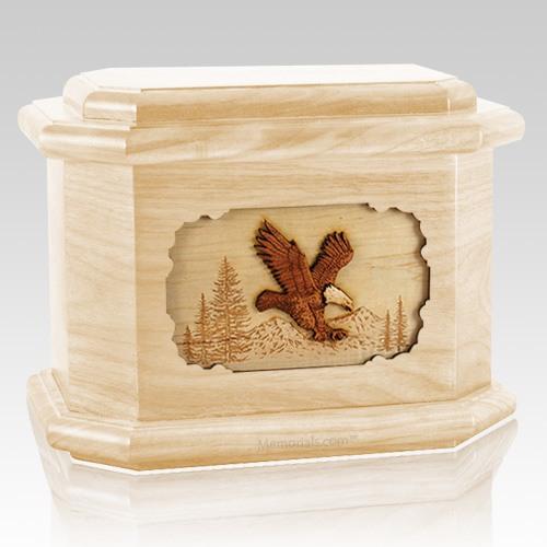Eagle Maple Octagon Cremation Urn