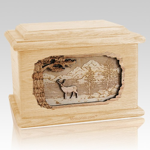 Deer Maple Memory Chest Cremation Urn