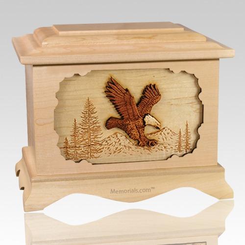 Eagle Maple Cremation Urn