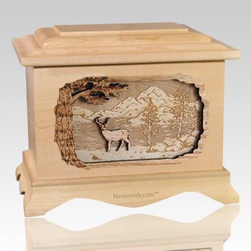 Deer Maple Cremation Urn