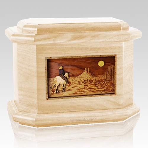 Horse Moon Maple Octagon Cremation Urn