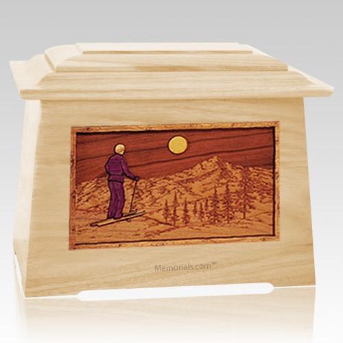 Skiing Maple Aristocrat Cremation Urn