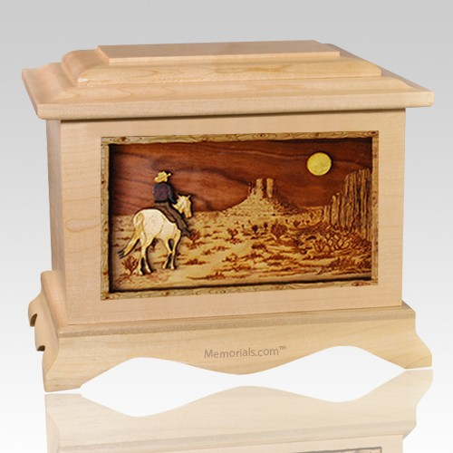 Horse Moon Maple Cremation Urn