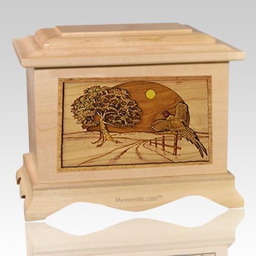 Pheasant Maple Cremation Urn