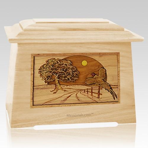Pheasant Maple Aristocrat Cremation Urn