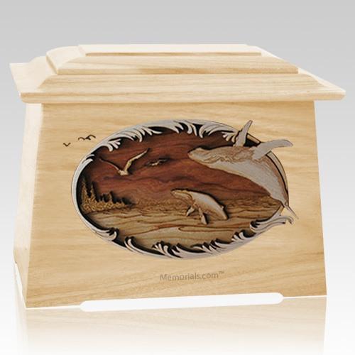 Whale & Calf Maple Aristocrat Cremation Urn