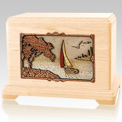 Sailing Maple Cremation Urn For Two