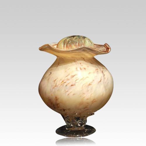 Wood Glass Keepsake Cremation Urn