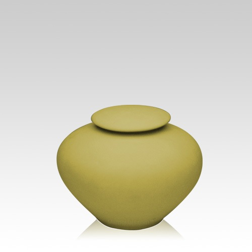 Yellow Silk Small Porcelain Clay Urn