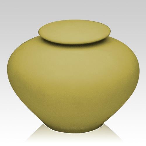 Yellow Silk Companion Porcelain Clay Urn
