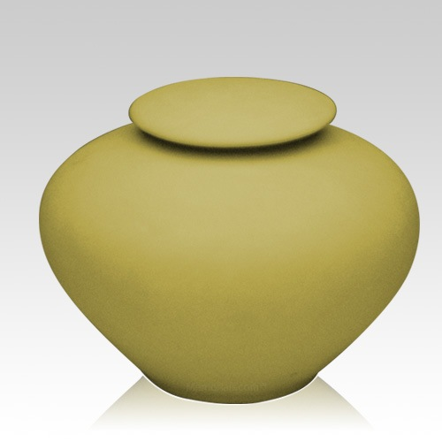 Yellow Silk Large Porcelain Clay Urn