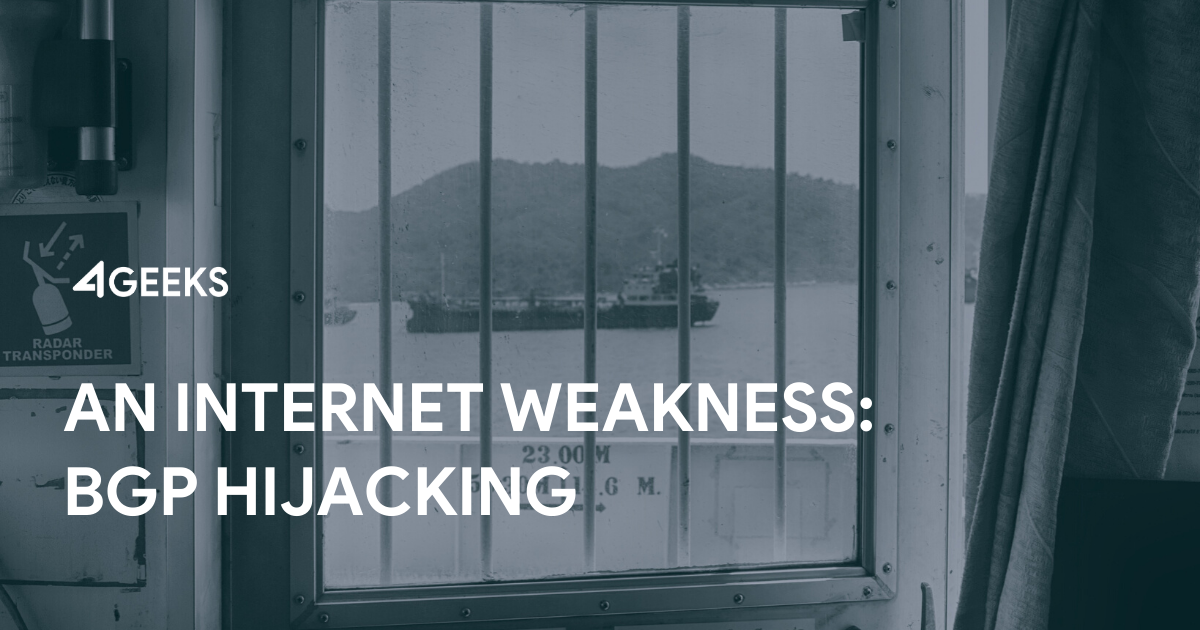 An Internet Weakness: BGP Hijacking