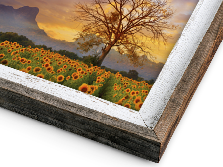 Metal Print with Rustic Barnwood Frame for Wall Display