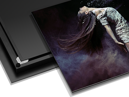 Metal Print with Exhibit Mount, perfect for displaying images and artwork at galleries.