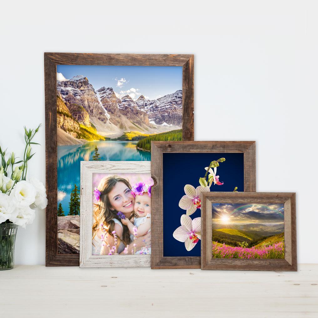 Rustic Barnwood Frames for our Beautiful Metal Prints