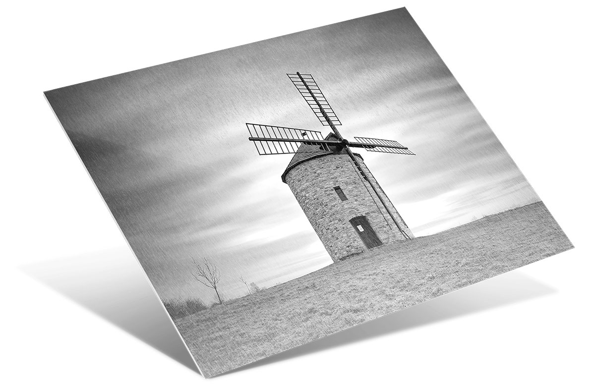 Sheer Surface Metal Prints show the metal texture through the white and light areas of your photo or artwork.