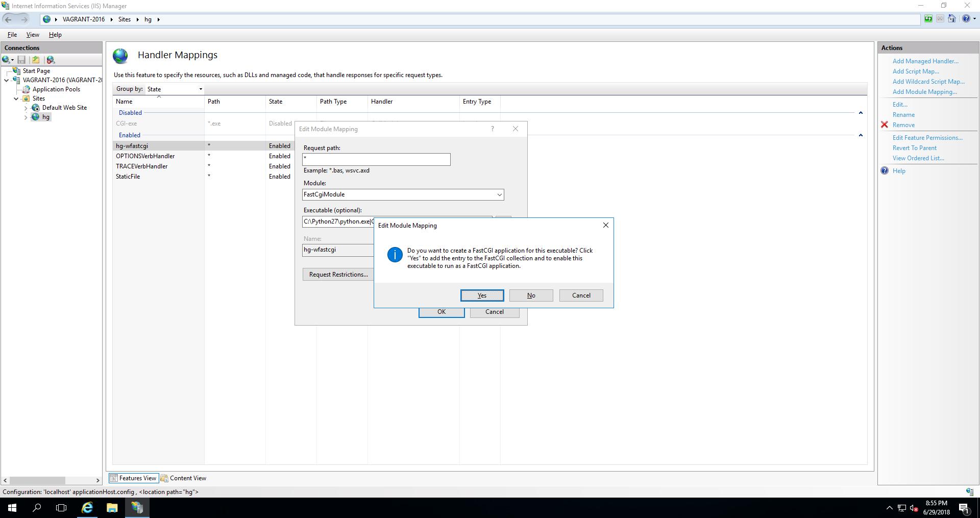 Create Application Handler