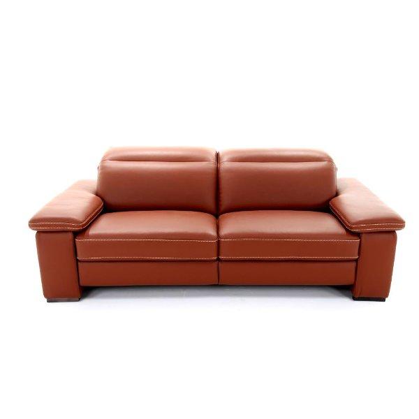 Salon met relax in dik leder met verstelbaar hoofdsteun in Italiaanse stijl