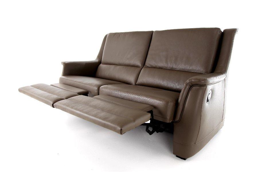 Salon Vesta (2,5-zit incl. 2 manuele relaxen) Salons Hedendaags Klassiek Relaxen in stijl Leder Bruin maatwerk