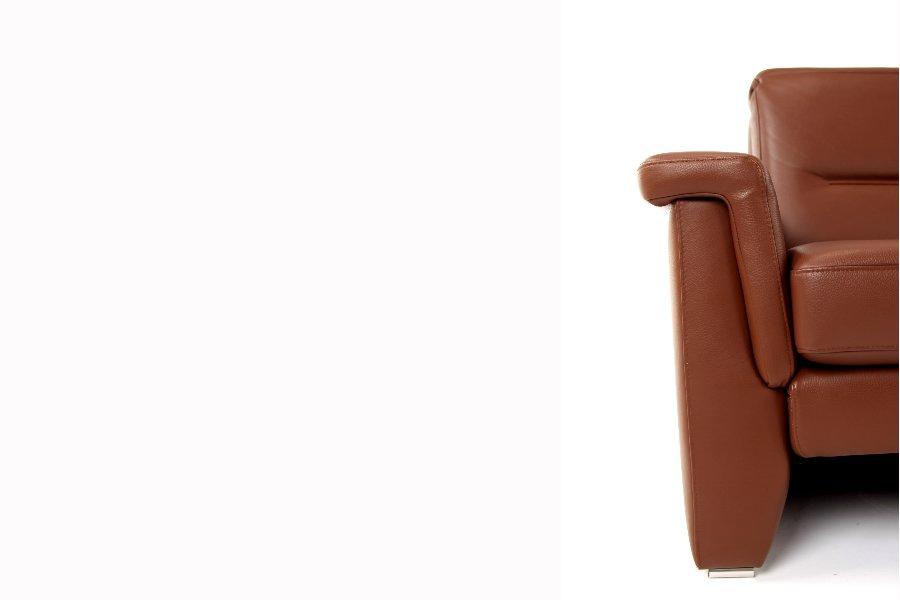 Salon Vince (2-zit) Salons Hedendaags Klassiek Leder Cognac maatwerk - Toonzaal Meubelen Larridon