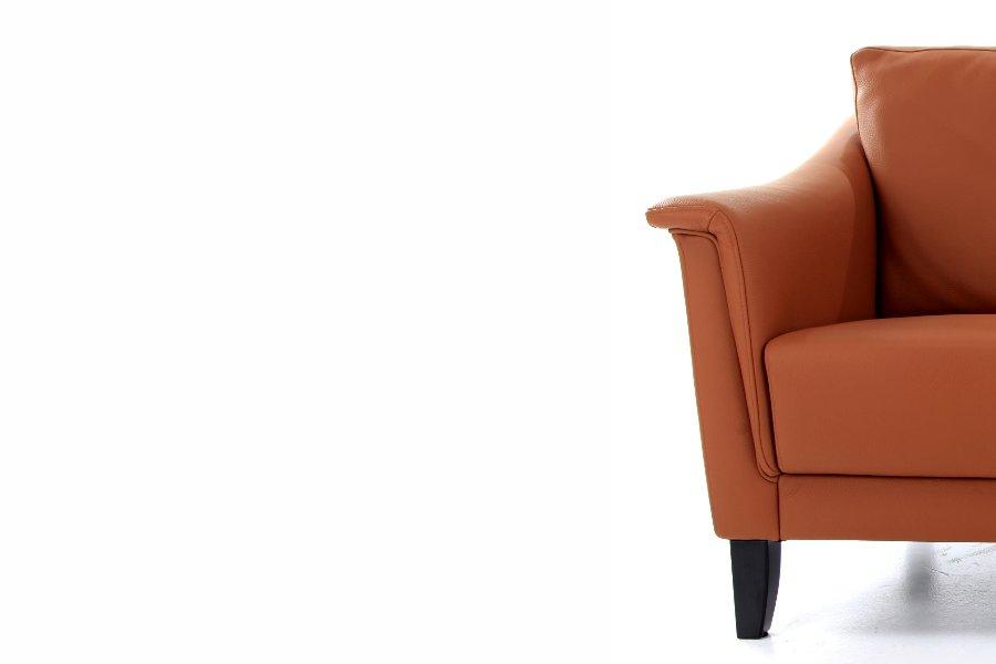 Salon New York (3-zit) Salons Tijdloos Modern Leder Cognac maatwerk - Toonzaal Meubelen Larridon