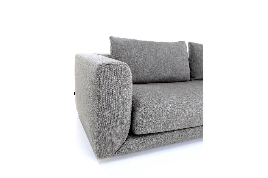 Hoeksalon Floyd Salons Italian Design strakke stof Grijs maatwerk - Toonzaal Meubelen Larridon