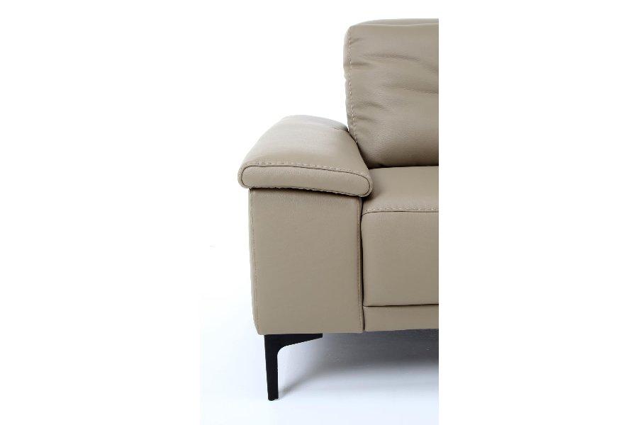 Salon Huub (3-zit incl 2 elektrische relaxen + 2 elektrische hoofdsteunen) Salons Relaxen in stijl Leder Taupe maatwerk