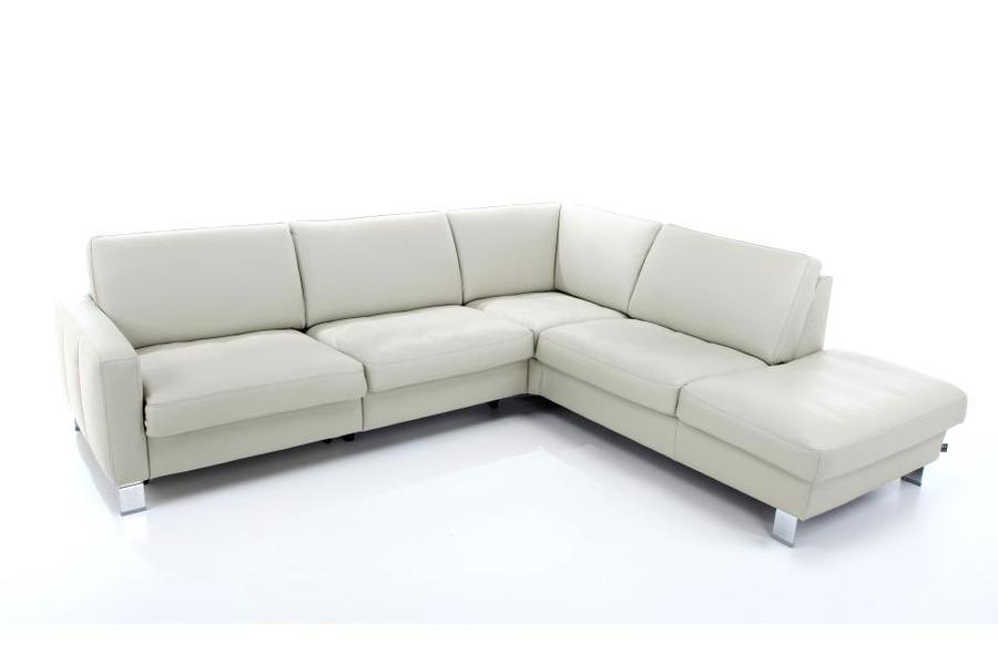 Hoeksalon Combiplus (incl. hoofdsteun) Salons Tijdloos Modern Relaxen in stijl Leder Grijs maatwerk