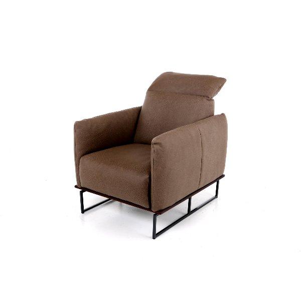 Zetel met smalle armen en opklapbaar hoofdsteun