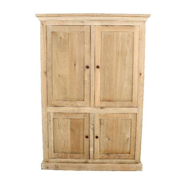 Hoge smalle houten kast met 4 deuren