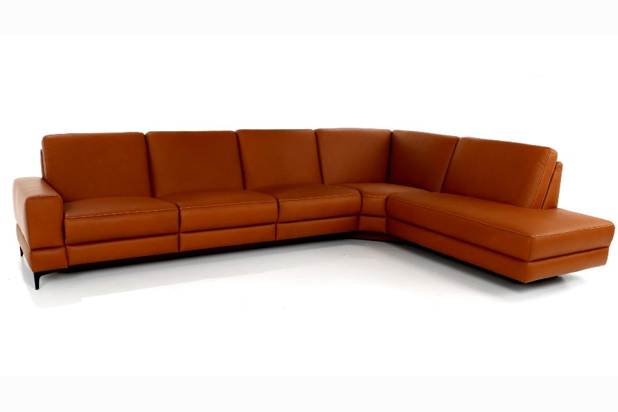 Salon Paredo (3-zit breed incl 2 electrische relaxen) Salons Relaxen in stijl Leder Grijs maatwerk