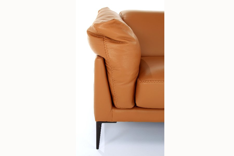 Salon Elise (3-zit) Salons Italian Design Leder Cognac maatwerk - Toonzaal Meubelen Larridon