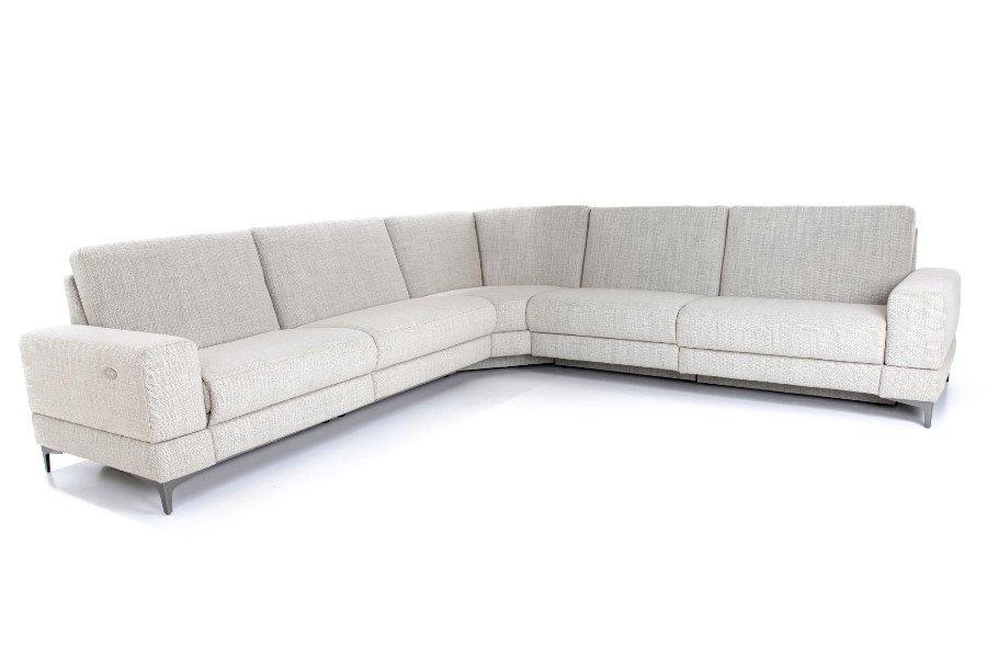 Hoeksalon Paredo Salons Tijdloos Modern Relaxen in stijl Stof Beige maatwerk - Toonzaal Meubelen Larridon