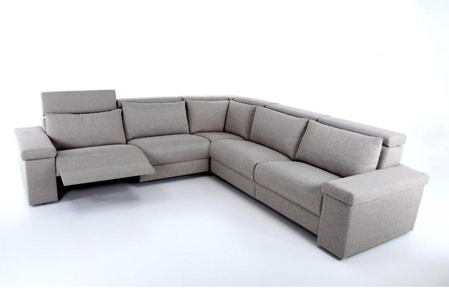 Hoeksalon Peyo Salons Tijdloos Modern Relaxen in stijl Stof Grijs maatwerk - Toonzaal Meubelen Larridon
