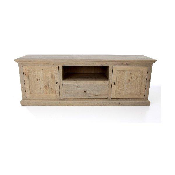landelijke tv-kast in hout met 3 deuren