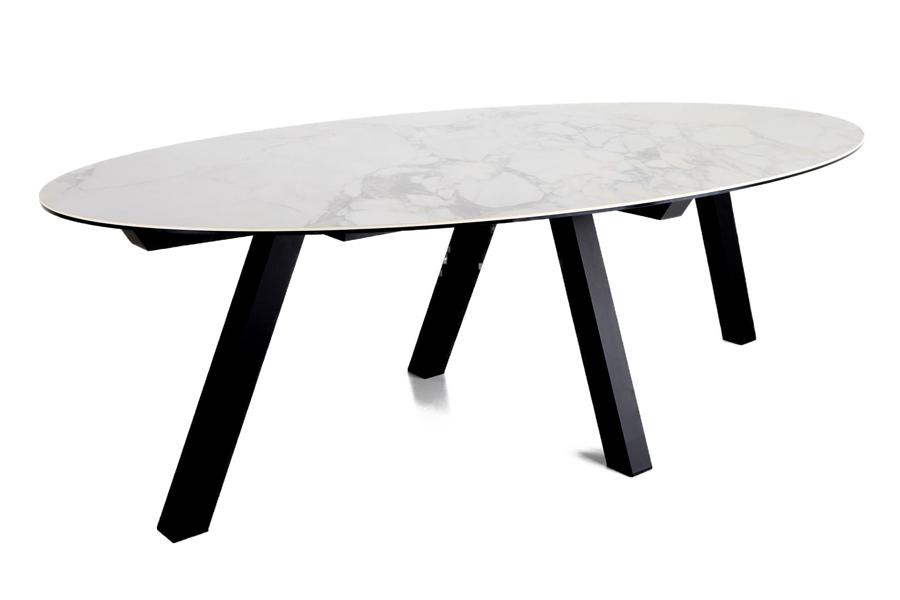 Tafel Duero Tafels Italian Design Luxe Ceramic Wit maatwerk - Toonzaal Meubelen Larridon