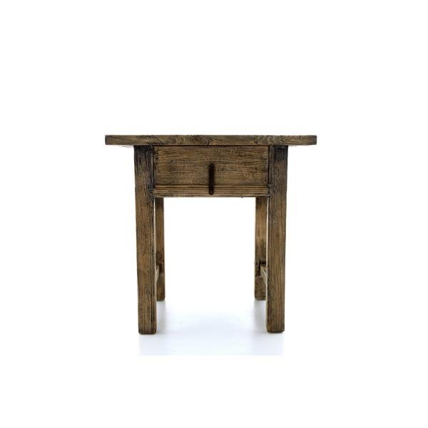 antiek tafeltje met lade in hout