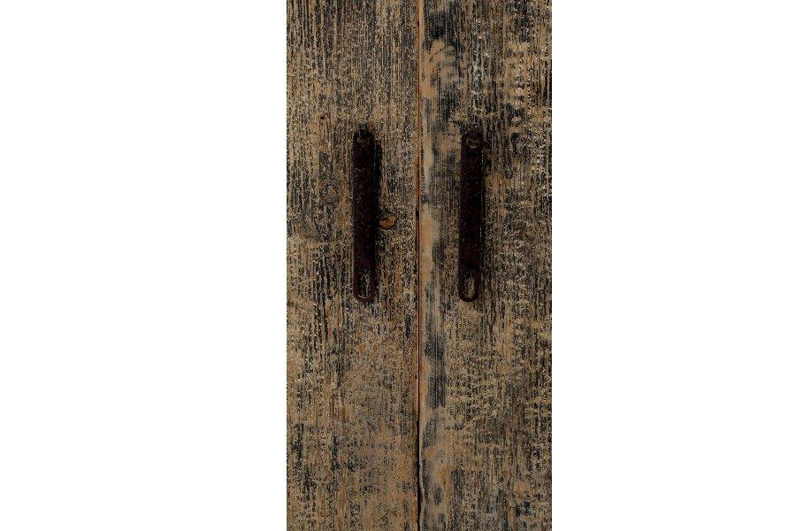 Kast Passao Metalen kasten Larridon Home Brut Landelijk Hout + metaal Zwart maatwerk