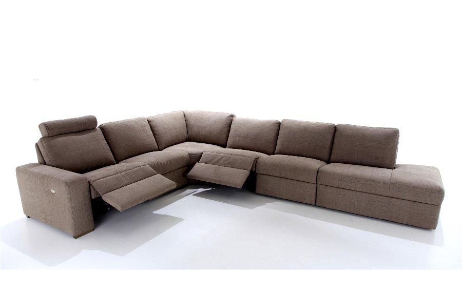 Hoeksalon Marvin Salons Larridon Home Strak Landelijk Relaxen in stijl Stof Bruin maatwerk - Toonzaal Meubelen Larridon
