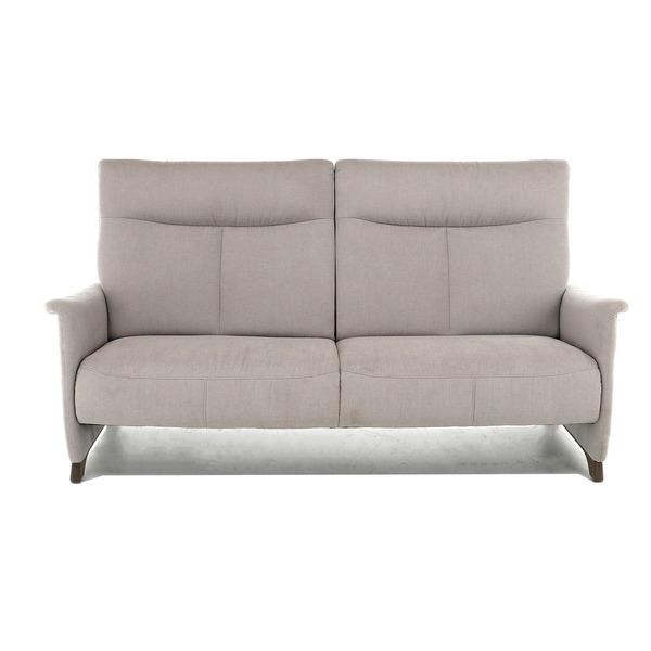 Compacte canapé in lichtgrijze stof open onderaan met hoge rug