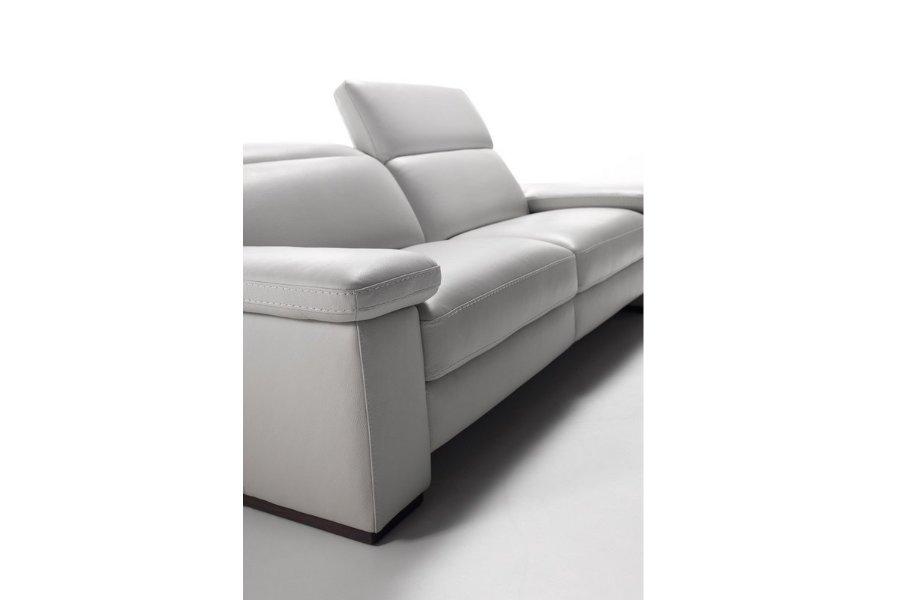 Salon Barista (3-zit incl 2 electrische relaxen) Salons Relaxen in stijl Leder Cognac maatwerk - Toonzaal Meubelen Larridon