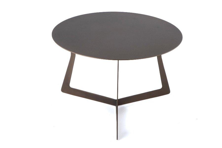 Salontafel Saturn Salontafels Italian Design Metaal Grijs maatwerk - Toonzaal Meubelen Larridon