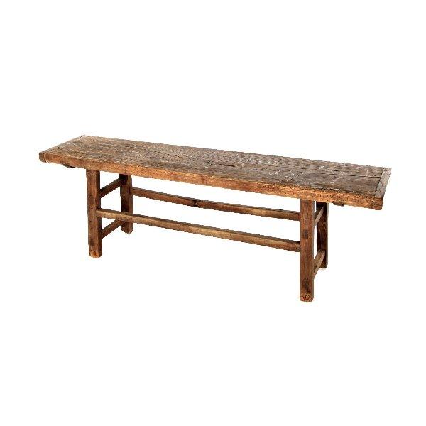 antieke zitbank in hout
