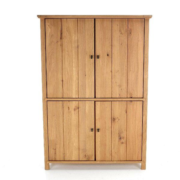 houten kast met 4 deuren