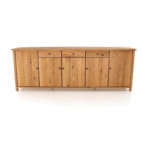 dressoir in hout met deuren en lades