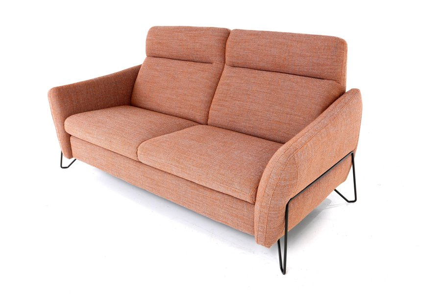 Salon Giulia (2-zit maxi) Salons Italian Design Stof Oranje maatwerk - Toonzaal Meubelen Larridon