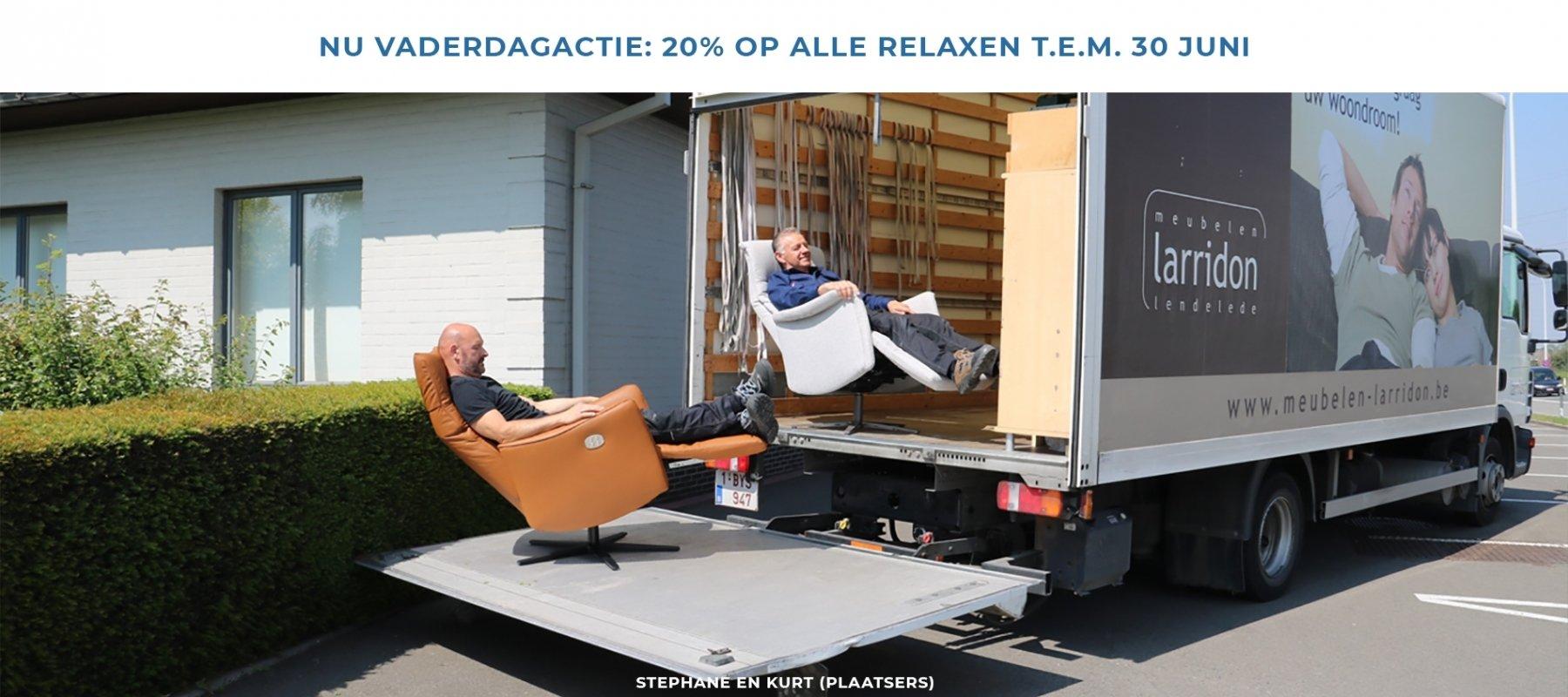 Vaderdagactie: 20% op alle relaxen