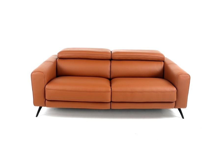 Salon Botega (3-zit incl. 2 elektrische relaxen + 2 elektrische hoofdsteunen) Salons Italian Design Tijdloos Modern Relaxen in stijl Cognac maatwerk